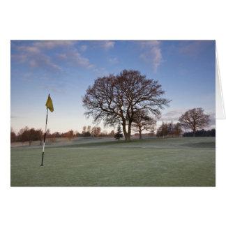 Campo de golf Shropshire de Cleobury Mortimer Tarjeta De Felicitación