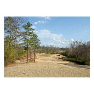 campo de golf tarjetas de visita grandes