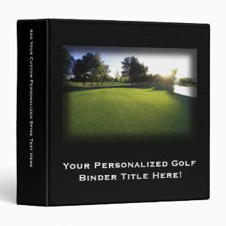 """Campo de golf verde en el amanecer carpeta 1 1/2"""""""