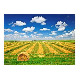 """Campo de granja del trigo en la cosecha invitación 5"""" x 7"""""""
