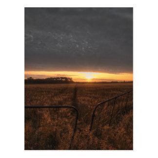 campo de granja tarjeta postal