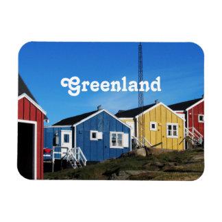 Campo de Groenlandia Imán Rectangular