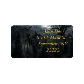 Campo de Halloween de la muerte Etiqueta De Dirección