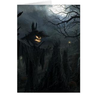 Campo de Halloween de la muerte Tarjeta Pequeña