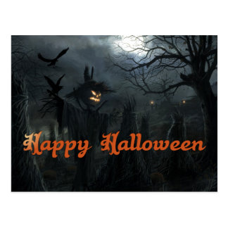 Campo de Halloween de la muerte Tarjetas Postales
