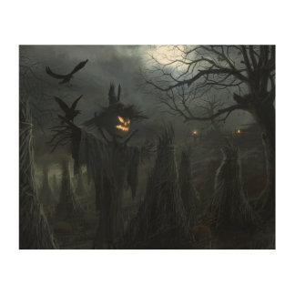 Campo de Halloween de la muerte Cuadros De Madera
