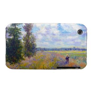 Campo de la amapola, Argenteuil, Claude Monet 1875 Case-Mate iPhone 3 Carcasa