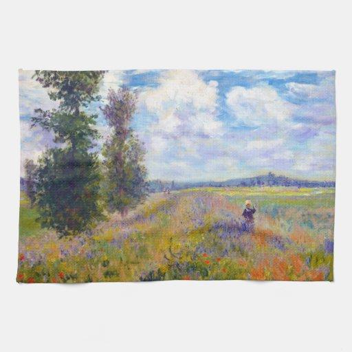 Campo de la amapola, Argenteuil, Claude Monet 1875 Toalla