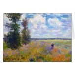 Campo de la amapola, Argenteuil, Claude Monet 1875 Tarjeta Pequeña