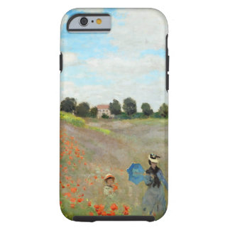 Campo de la amapola de Monet Funda De iPhone 6 Tough