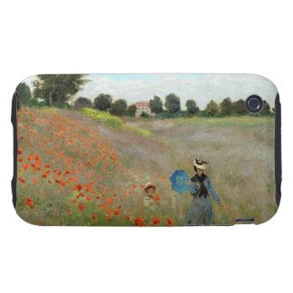 Campo de la amapola de Monet iPhone 3 Tough Cobertura