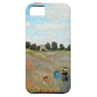 Campo de la amapola de Monet iPhone 5 Carcasas