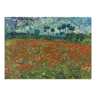 Campo de la amapola de Vincent van Gogh Comunicado