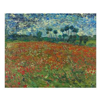 Campo de la amapola de Vincent van Gogh Impresion Fotografica