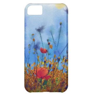 Campo de la amapola del verano - pintura funda para iPhone 5C