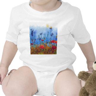 Campo de la amapola del verano - pintura camiseta