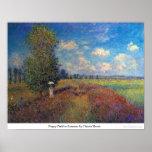 Campo de la amapola en verano de Claude Monet Poster