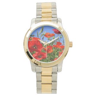 Campo de la amapola reloj