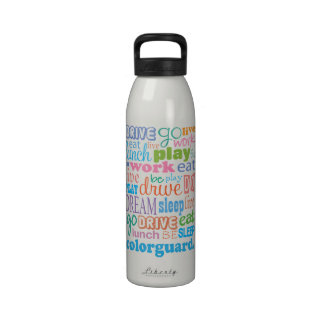 Campo de la banda de Colorguard Botella De Agua