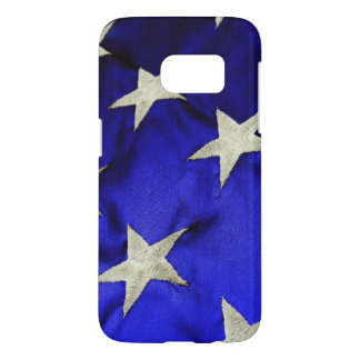Campo de la bandera americana del azul con las fundas samsung galaxy s7
