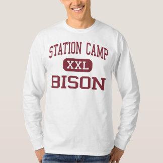 Campo de la estación - bisonte - alto - playera