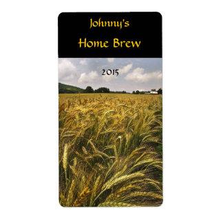 Campo de la etiqueta de la cerveza del grano etiquetas de envío