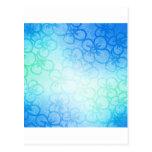 Campo de la flor - azul tarjeta postal