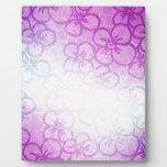 Campo de la flor - púrpura placa de plastico