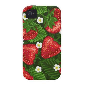 campo de la fresa iPhone 4 funda