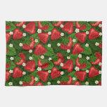 campo de la fresa toalla de mano