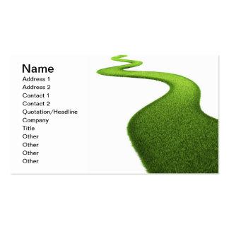 Campo de la hierba verde fresca tarjeta personal