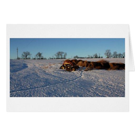 Campo de la nieve tarjeta de felicitación
