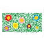 Campo de la postal de las flores