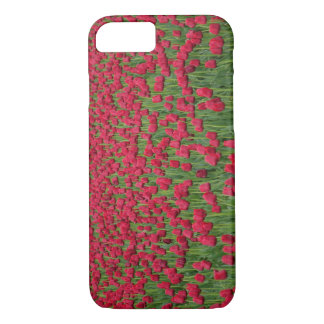 Campo de la primavera de la caja roja del iPhone Funda iPhone 7