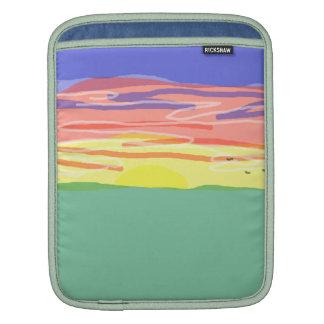 Campo de la puesta del sol fundas para iPads