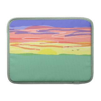 Campo de la puesta del sol funda macbook air