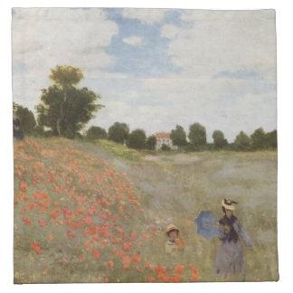 Campo de las amapolas Claude Monet Servilleta Imprimida