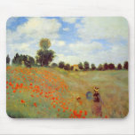 Campo de las amapolas, Claude Monet Tapetes De Ratones
