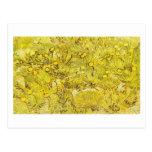 Campo de las flores amarillas, Vincent van Gogh Postal