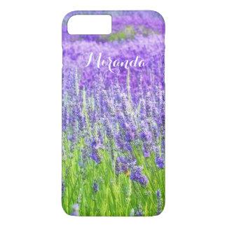 Campo de las flores púrpuras de la lavanda funda iPhone 7 plus