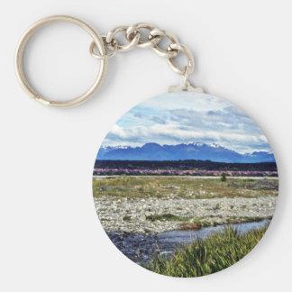 Campo de los altramuces y de las montañas meridion llaveros personalizados