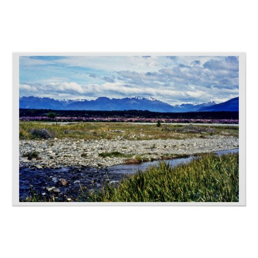 Campo de los altramuces y de las montañas meridion impresiones