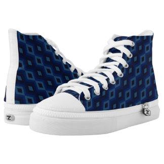 Campo de los diamantes azul marino - altos zapatos zapatillas