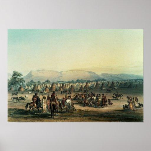 Campo de los indios de Piekann Póster