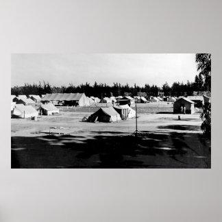 Campo de los trabajadores emigrantes póster