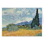 Campo de maíz con los cipreses de Vincent van Gogh Tarjeta