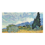 Campo de maíz con los cipreses de Vincent van Gogh Tarjeta Personal