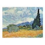 Campo de maíz con los cipreses de Vincent van Gogh Postales