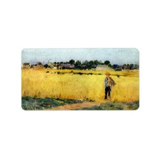 Campo de maíz de Berthe Morisot Etiqueta De Dirección