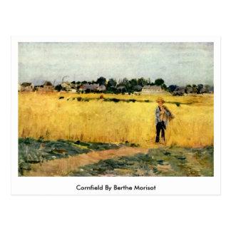 Campo de maíz de Berthe Morisot Postal
